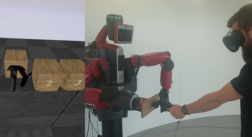 PhD student uses a robot to make VR feel more real