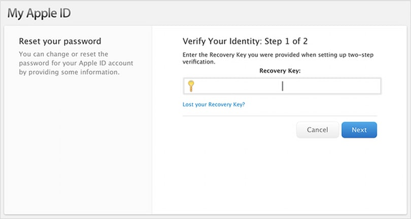 PSA: Don't lose your Apple ID recovery key if you are using two-factor authentication