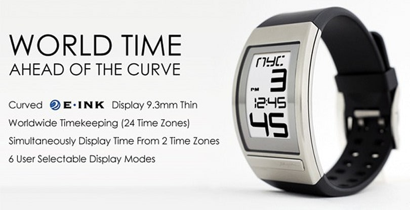Phosphor's latest watch can E Ink its way through 24 time zones
