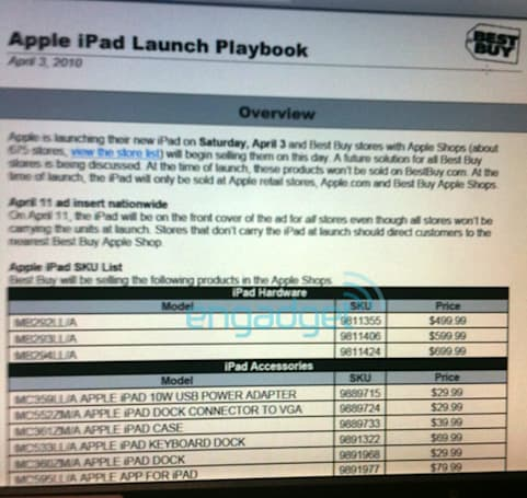 Leaked image says iPad lands at Best Buy... on launch day