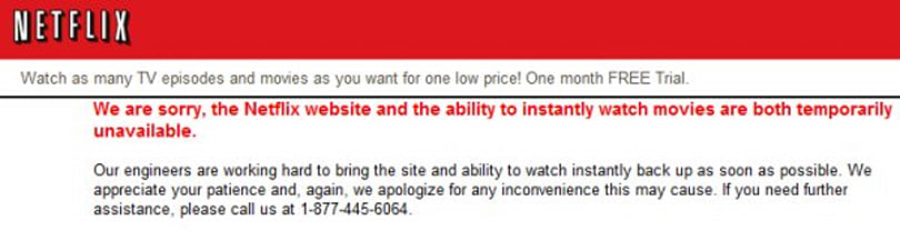 Netflix suffers temporary website outage today (fixed!), permanent Dexter outage this summer