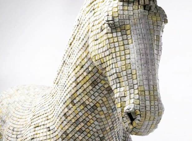 Inhabitat's Week in Green: solar panel printer, gold producing bacteria and a life-size of horse made of computer keys