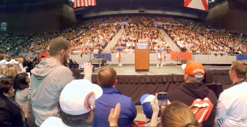 VR video brings you closer to presidential candidates