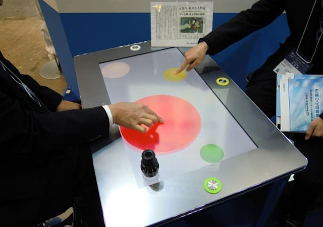 Gunze's new touchscreen tech knows who's touching it