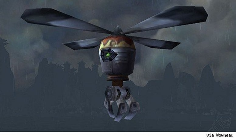 Patch 5.4 PTR: Sky Golem mount allows for aerial flower picking