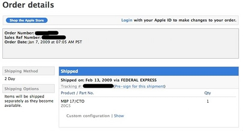 17-inch unibody MacBook Pros now shipping?