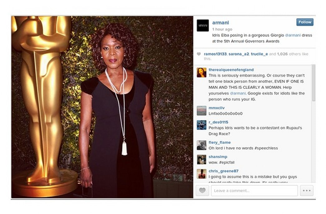 Armani faces racism accusations as mislabeled Instagram photo goes viral