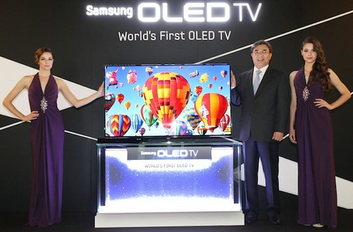 Samsung shows off production 55-inch OLED HDTVs at the 2012 World's Fair