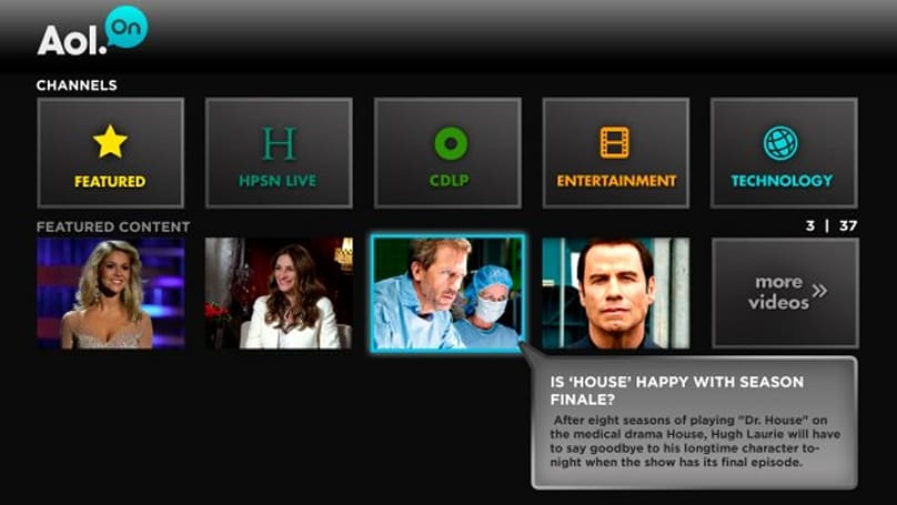 AOL HD connected TV app is now AOL On for Samsung, Roku and Sony; TiVo coming soon