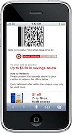 Target launches first scannable mobile coupon program, frugalistas going wild