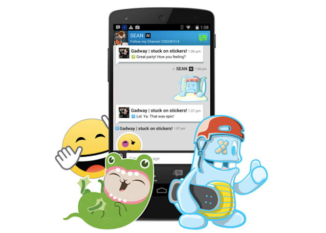 BBM beta now offers stickers, because that's really what it needs to catch up