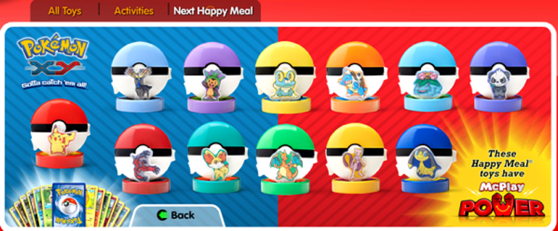 Pokemon are back in Happy Meals with new X, Y collection