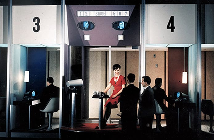 50 years ago today, the public got its first taste of video calls