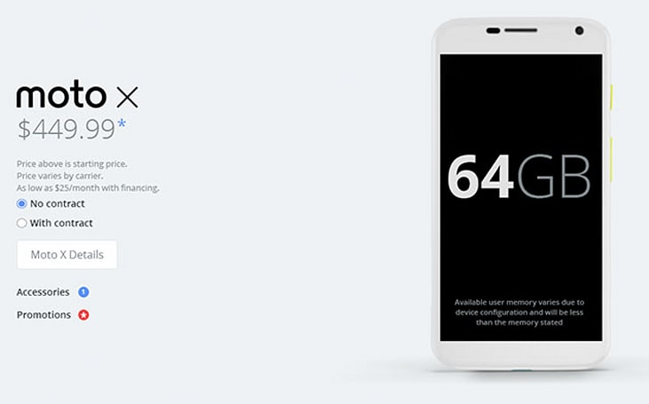 Motorola doubles the Moto X's storage and lets you try one for a penny