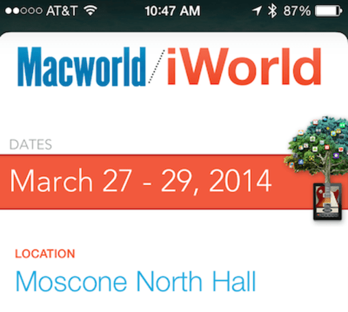 Macworld/iWorld 2014 using Passbook, iBeacons to ease registration process