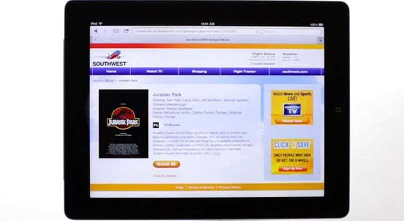 Southwest Airlines' on-demand WiFi video reaches all capable aircraft (video)