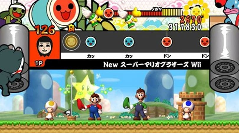 New Wii Taiko Drum Master features New Super Mario Bros. theme