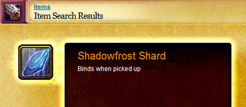 Shadowfrost Shard drop rates are actually pretty good