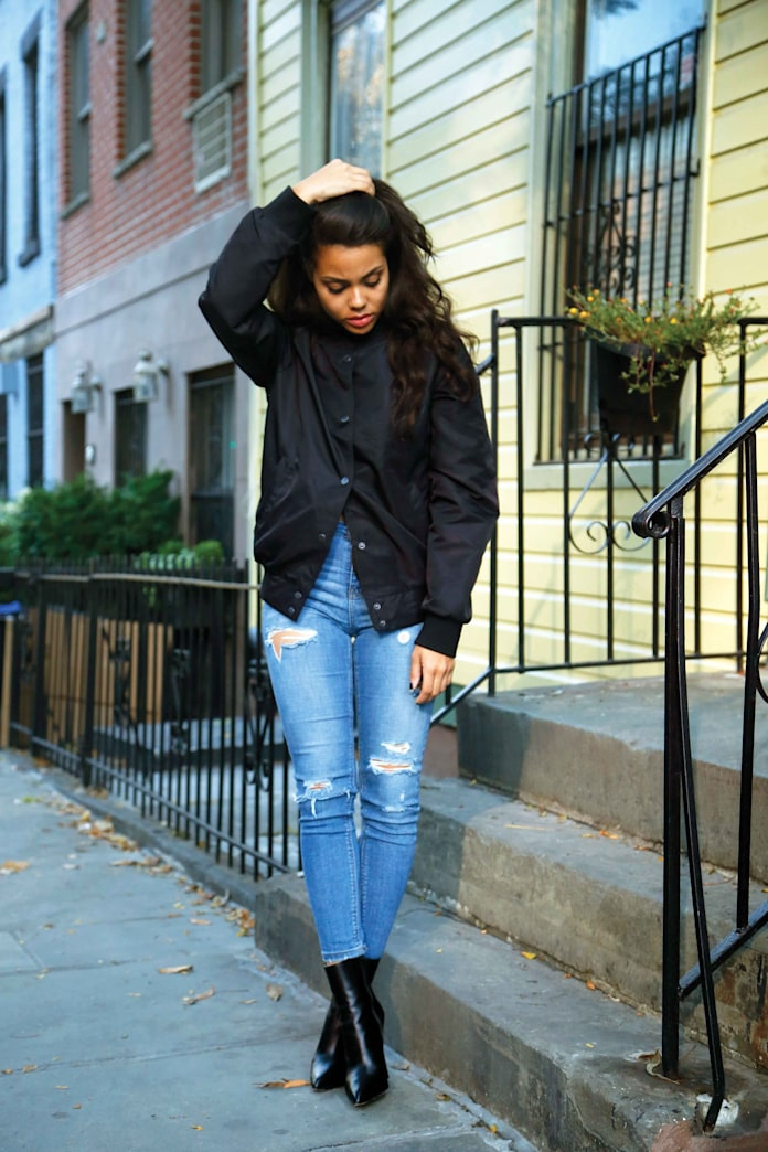 Street style tip of the day: A bomber jacket