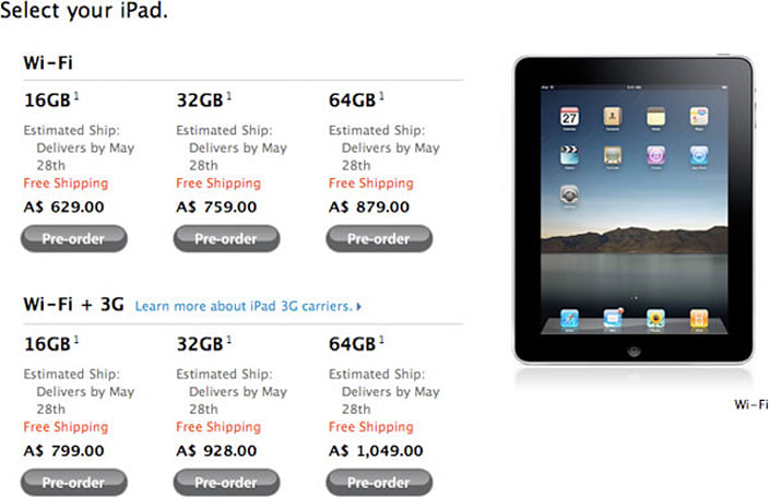 Apple starts rolling out international iPad pre-orders