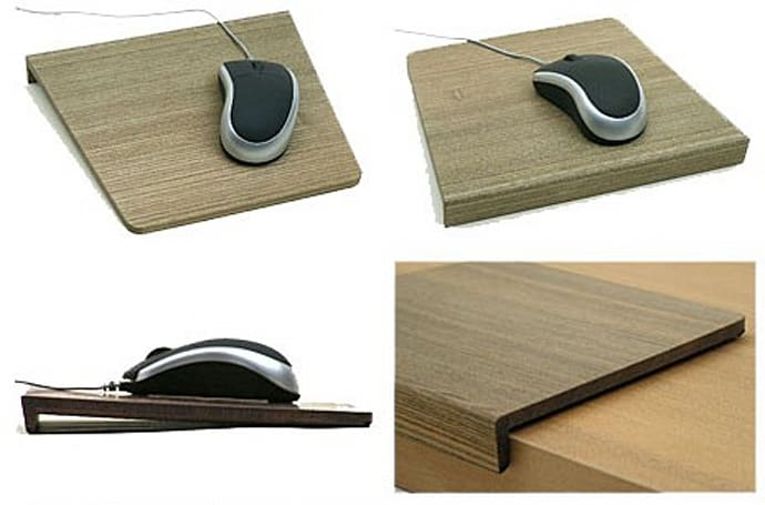 Wooden mousepad works great with wooden mice