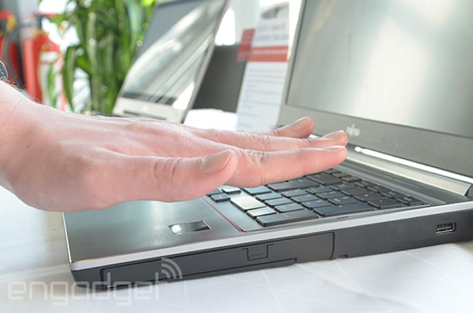 Fujitsu's palm-scanning laptops won't be fooled by severed limbs