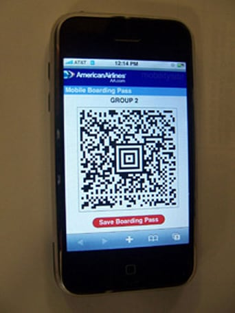 Cellphone boarding pass gets tested, experience gets journaled