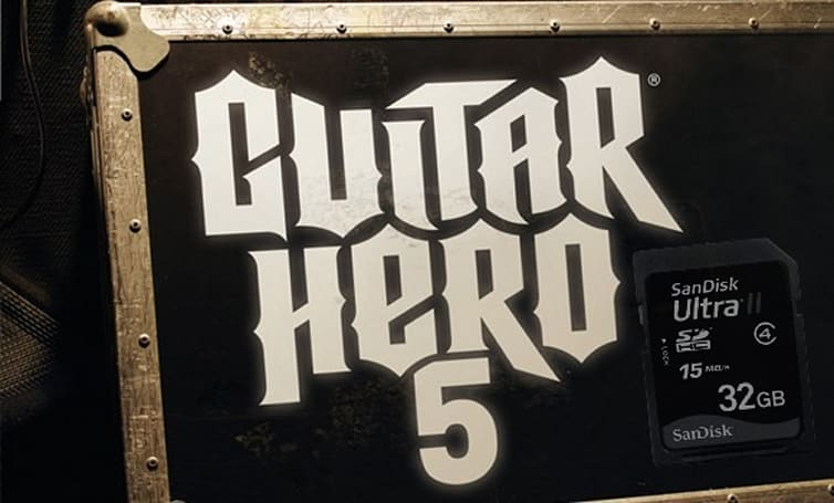 Guitar Hero 5 for Wii can stream downloaded songs directly from SD card