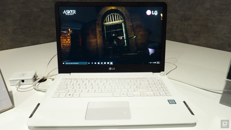 LG shows off a 4K laptop with Harman Kardon speakers