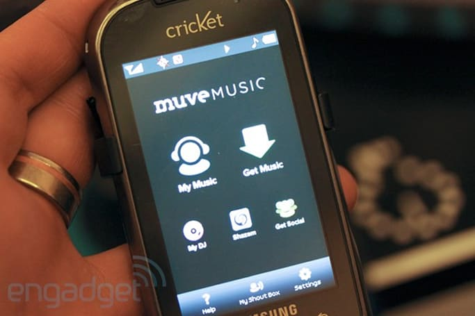 Cricket Muve music service and Samsung Suede hands-on