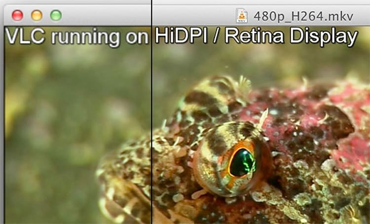 VLC 2.02 adds Retina display support, ditches font cache interruptions