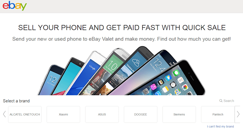 eBay Quick Sale is an easy way to sell your used phone