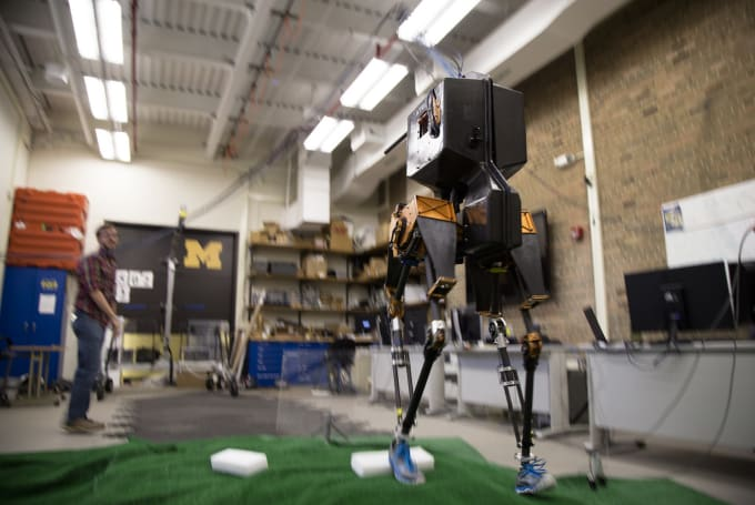 U of M's Marlo robot uses algorithms to conquer uneven terrain