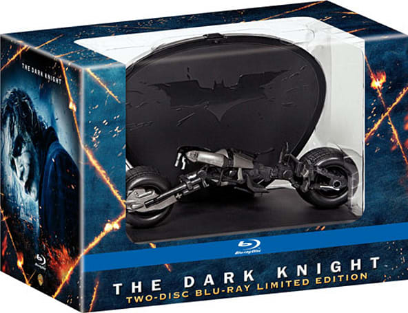 The Dark Knight Blu-ray Bat-Pod display case gets pictured
