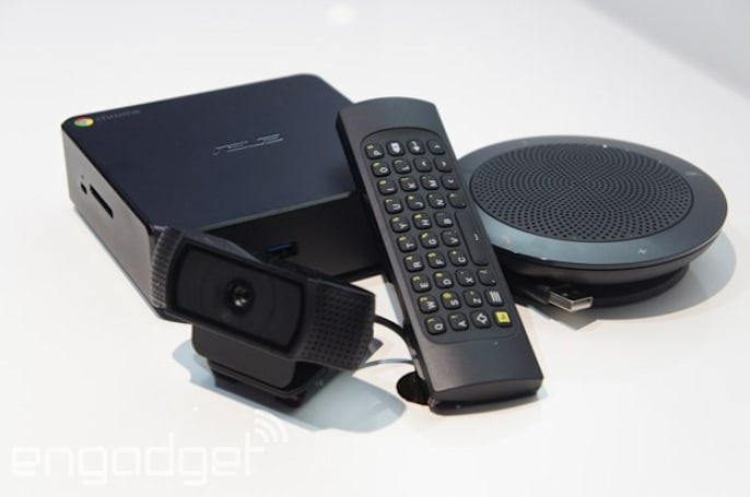 Google takes on the conference room with Chromebox for meetings