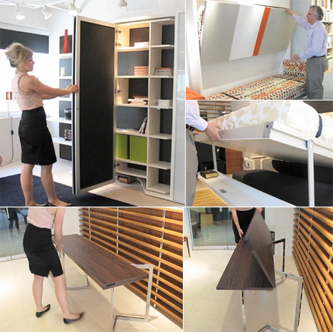 Resource furniture makes ikea designs look unwieldy video for Space saver beds ikea