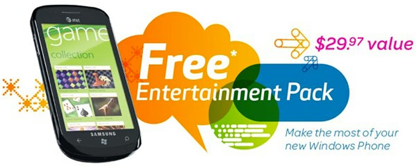 AT&T offering a free month of Zune to folks who buy a Windows Phone 7 handset this year (update: 3-month Zune Pass from MS, and free Xbox 360s in Austria!)