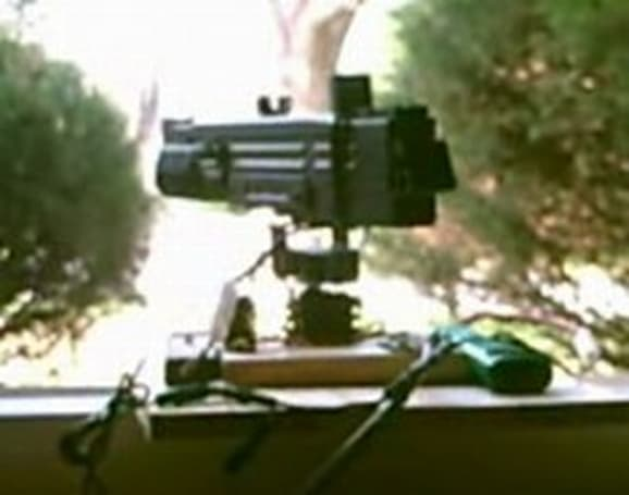 USB BB gun sports barrel-mounted webcam, ensures home security
