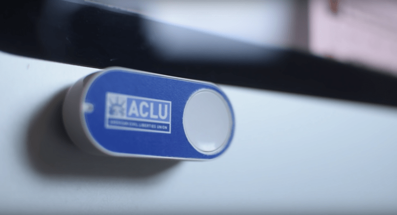 An unofficial ACLU Dash Button offers one-touch donations
