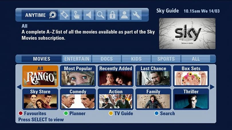 Sky Anytime+ now available via all broadband providers