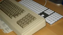 Two Apple keyboards, 24 years apart
