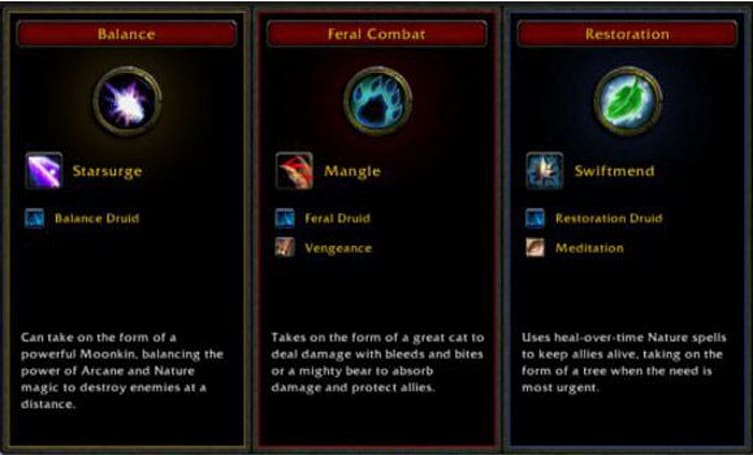 Cataclysm Beta: Feral druid specialization and talents