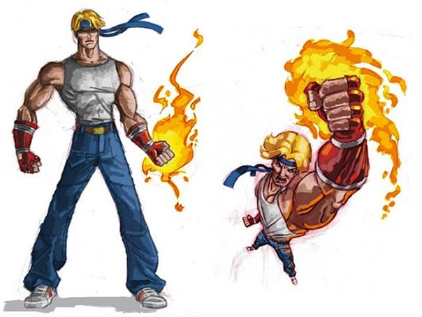 Backbone-developed Streets of Rage, ESWAT pitch art surfaces