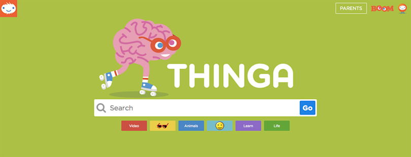 Thinga is a kid-friendly search engine with parental controls