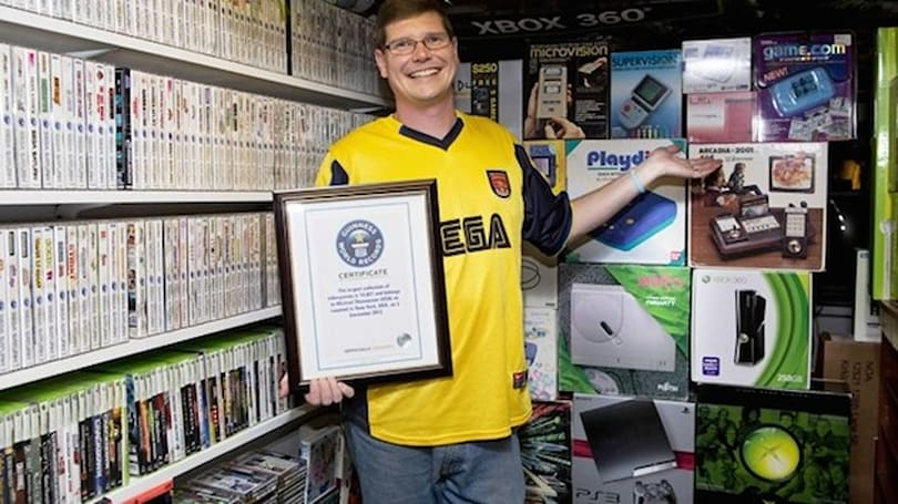 The world's largest video game collection sold for $750,250
