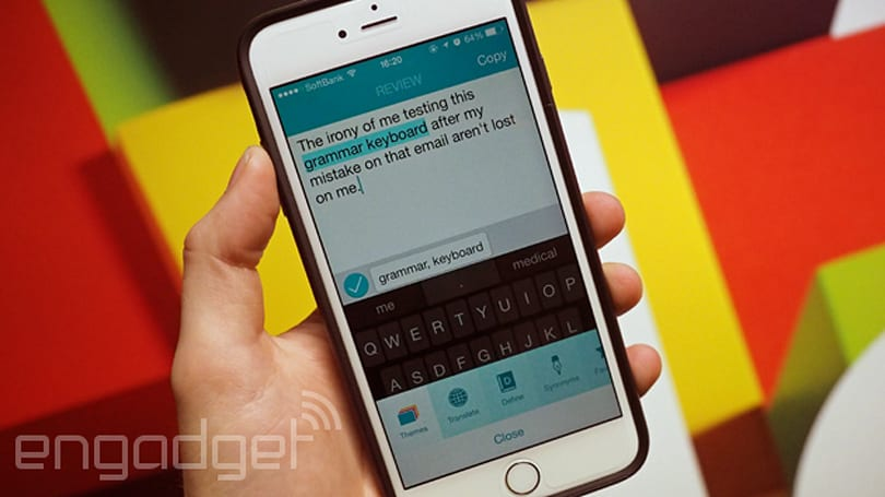 Ginger's spellchecking keyboard comes to iOS 8, but don't expect perfect prose
