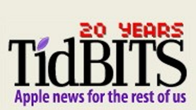 TidBITS celebrates 20 years of online publishing excellence