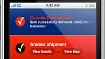 Delivery Status touch: obsessive package tracking on the move