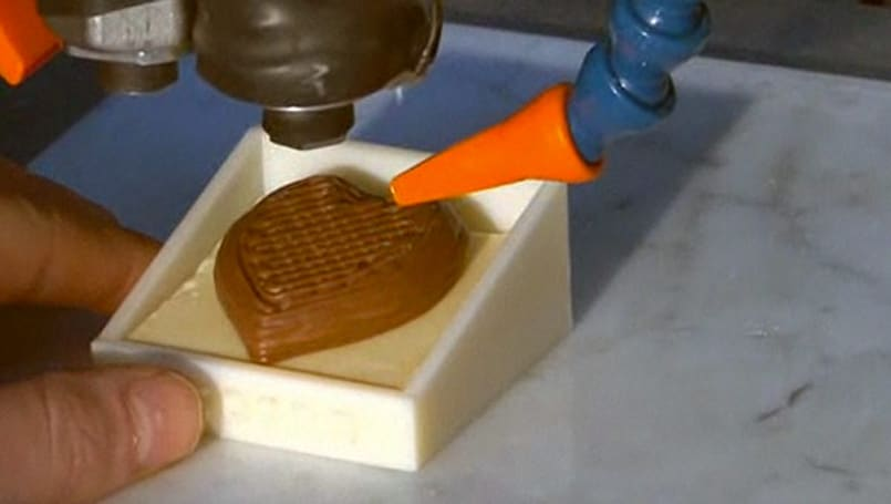 Chocolate printer makes 3D molds of your edible visions