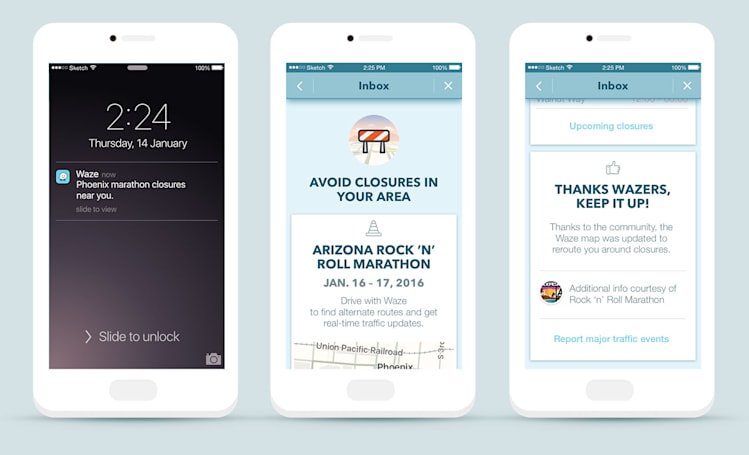 Waze will help you avoid traffic jams around big events